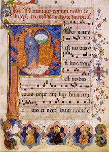 Gradual Romanum 15th c - Christmas Introit