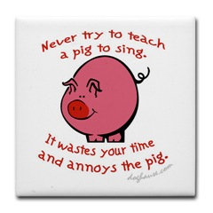 pig sing cartoon